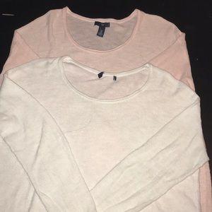gap Sweaters - 2 lite sweaters 1 pink 1 white . Bundle both $8